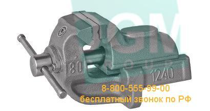 Тиски слесарные усиленные с угловым креплением к столу BISON 1240-80L