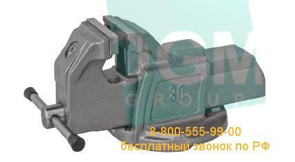 Тиски слесарные неповоротные BISON 1250-80L