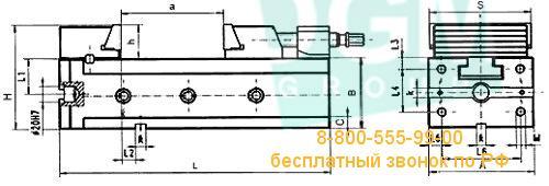 Муфта для тисков BISON LCZ 6800-150 М12х130