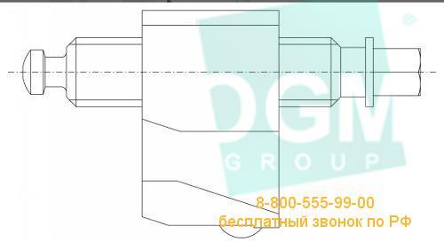 Винт с блоком к тискам BISON 6620;6621;6622;6623;6820;6821-100