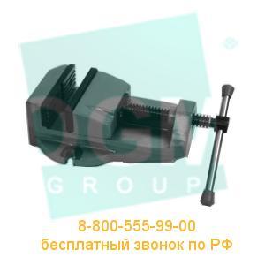 Тиски станочные неповоротные 7200-0205-13 (100мм) чугун, Бар.