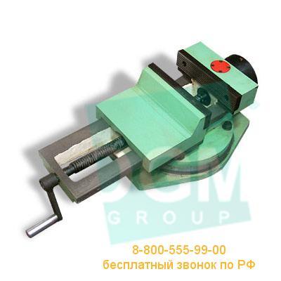 Тиски станочные пневматические с гидравлическим усилением 7201-0014-02 (200мм) чугун, Бар.