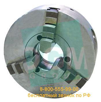 Патрон токарный БелТАПАЗ 3-х кул. С7100-0033В d=200мм